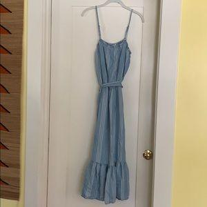 BB Dakota Strip Blue and White Dress- Size Large